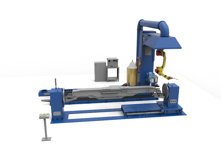Automatic welding robot workstation for side beam of frame
